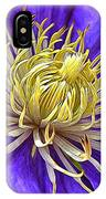 Bright Clematis Center IPhone Case