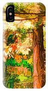 Bright Colored Leaves On The Branches In The Autumn Forest IPhone Case