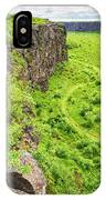 Bright Green Asbyrgi Canyon In Iceland IPhone Case