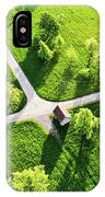 Bright Green Spring Meadow Aerial Photo IPhone Case