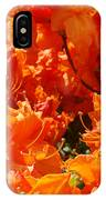 Bright Orange Rhodies Art Prints Canvas Rhododendons Baslee Troutman IPhone Case