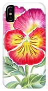Bright Pansy IPhone Case