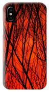 Bright Red Sunset IPhone Case