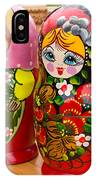 Bright Russian Matrushka Puzzle Dolls IPhone Case