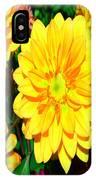 Bright Yellow Dahlia Flower IPhone Case