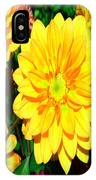 Bright Yellow Dahlia Flower IPhone Case