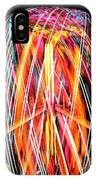 Brightly Colored Abstract Light Painting At Night From The Fireb IPhone Case