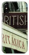 British Bar Britanica  IPhone Case