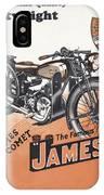British James Comet Motorcycle  1948 IPhone Case