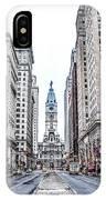 Broad Street Facing City Hall In Philadelphia IPhone Case