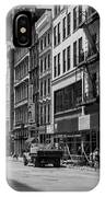 Broadway, New York In Black And White IPhone Case