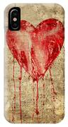 Broken And Bleeding Heart On The Wall IPhone Case