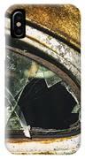 Broken Window On A Rusty Scraped Classic Car IPhone Case