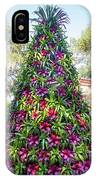 Bromeliad Christmas Tree At Pinewood Estate, Bok Tower IPhone Case