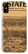 1909 Bronx New York Realtor Flyer IPhone Case