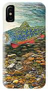 Brook Trout Art Fish Art Nature Wildlife Underwater IPhone Case