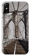 Brooklyn Bridge By Art Farrar Photographs, Ny 1930 IPhone X Case