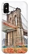 Brooklyn Bridge Close Up IPhone Case