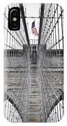 Brooklyn Bridge Flag IPhone X Case