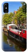 Brouwersgracht Canal In Amsterdam. Netherlands. Europe IPhone Case