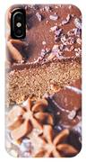 Brown Chocolate Cake IPhone Case