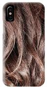 Brown Curly Hair Background IPhone Case