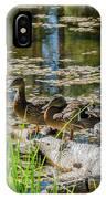 Brown Ducks On Log IPhone Case