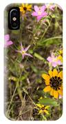 Brown Eyed Susans With Rose Gentian Flowers IPhone Case