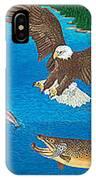 Brown Trout Eagle Rainbow Trout Art Print Giclee Wildlife Nature Lake Art Fish Artwork Decor IPhone Case
