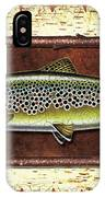 Brown Trout Lodge IPhone Case by JQ Licensing