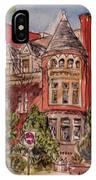Brownstone On Corcoran Street IPhone Case