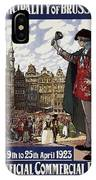 Brussels Commercial Fair Poster - Retro Poster - Vintage Travel Advertising Poster IPhone Case