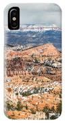 Bryce Canyon Looking Towards Aquarius Plateau   IPhone Case