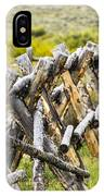 Buck And Rail Fence In The High Country IPhone Case