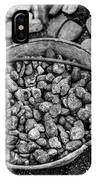 Bucket Of Rocks In Black And White IPhone Case