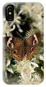 Buckeye On Wildflowers IPhone Case