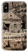 Bucks County - Cuttalossa Mill In Sepia IPhone Case