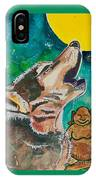 Buddha And The Divine Wolf No. 1370 IPhone Case