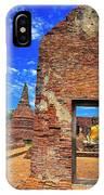 Buddha Doorway At Wat Worachetha Ram In Ayutthaya, Thailand IPhone Case