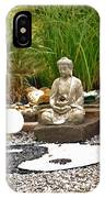 Buddha Looks At Yin And Yang IPhone Case