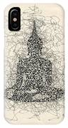 Buddha Pen And Ink Drawing IPhone Case