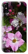 Buds And Petals- Pink Roses- Rose Bush- Floral Art IPhone Case