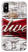 Budweiser Wood Art 5a IPhone Case
