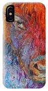 Buffalo Bison Wild Life Oil Painting Print IPhone X Case