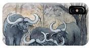Buffaloes In The Bushveld IPhone Case