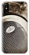 Bugatti Veyron Legend Grille Emblem -0514s IPhone Case