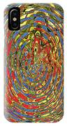 Building Of Circles And Waves Colored Yellow Red And Blue IPhone Case