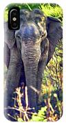 Bull Elephant Threat IPhone Case