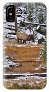 Bull Elk Feeding In Winter IPhone Case