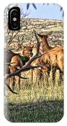 Bull Elk In Point IPhone Case